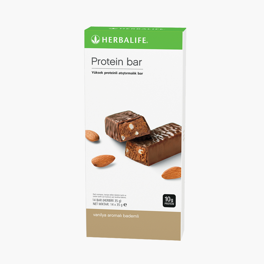 Herbalife Protein Bar Vanilya Aromalı Bademli - herbalsiparisim
